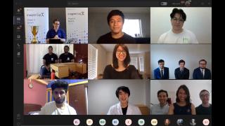 Les finalistes de l'Imagine Cup 2020 réunis lors d'une conférence téléphonique Microsoft Teams